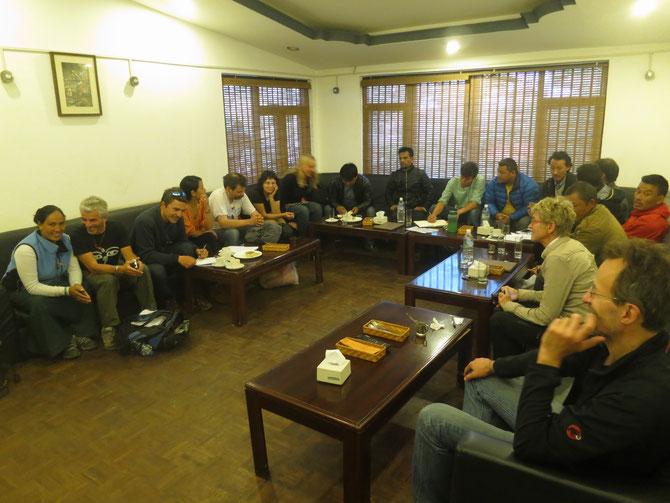 réunion avec le comité