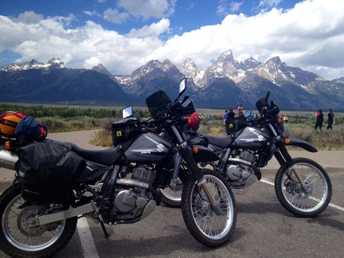 The bikes and the Tetons