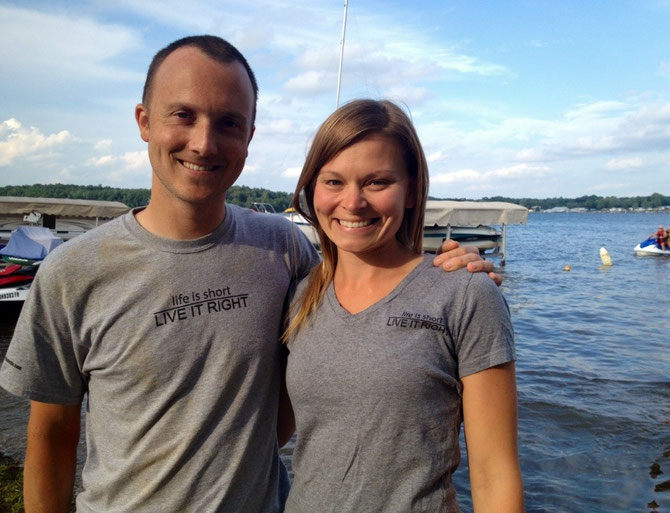 Sporting our Live It Right shirts (available on The Merchandise tab of our site) at Hamilton Lake