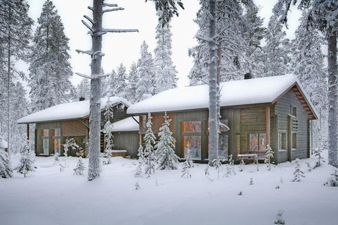 Der nächste Winter kommt bestimmt  - Wohnblockhaus in Nordfinnland - © Blockhaus Kuusamo