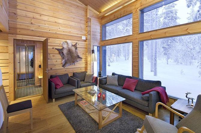 Modernes Kuusamo Wohnblockhaus mit Natur pur!