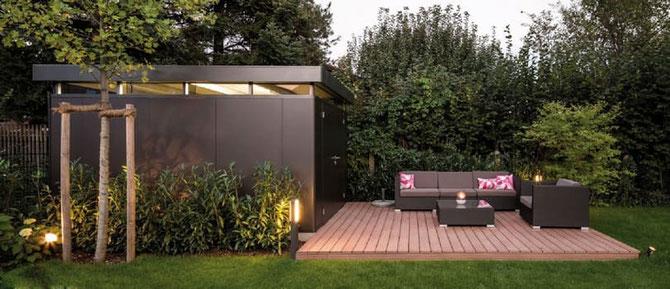 Das isolierte Nebengebaeude Casa Nova groß - Gartenhaus  - Gerätehaus - Geräteschuppen    © Biohort.com
