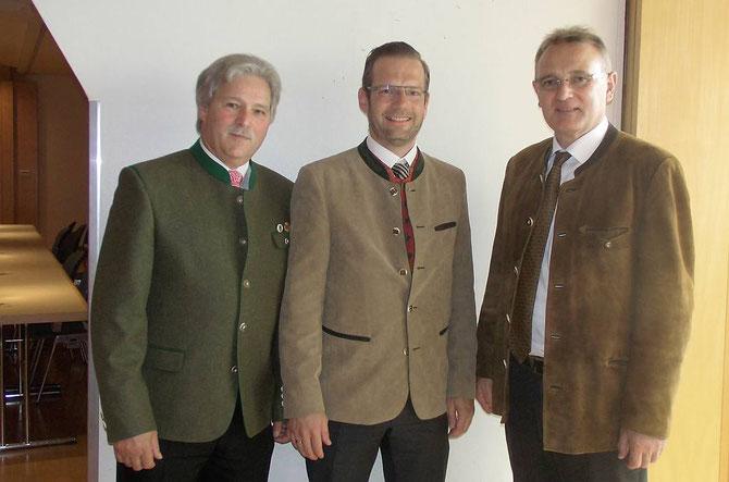 vlnr: Ralph Keller, Alexander Heidel Geschäftsführer des BSSB, Berthold Rüth MdL CSU und Vorsitzender des Landessportbeirates