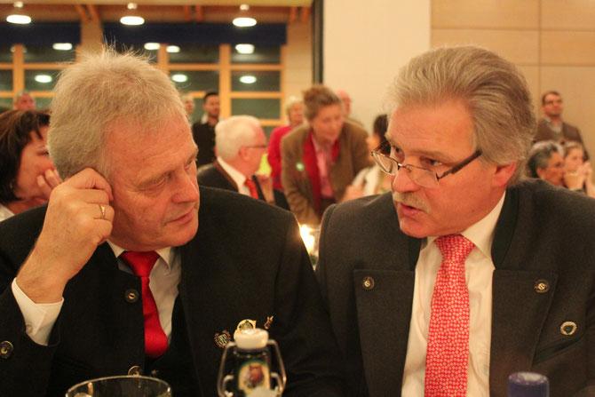 Martin Neuner (stv. Vorsitzender KG WÜ  li.), Ralph Keller ( Vorsitzender KG MIL re.)