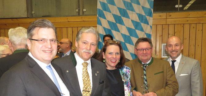 v.l.n.r. Prof. Dr. Bausback, R. Keller, K. Passow, G. Eck, A. Hoffmann