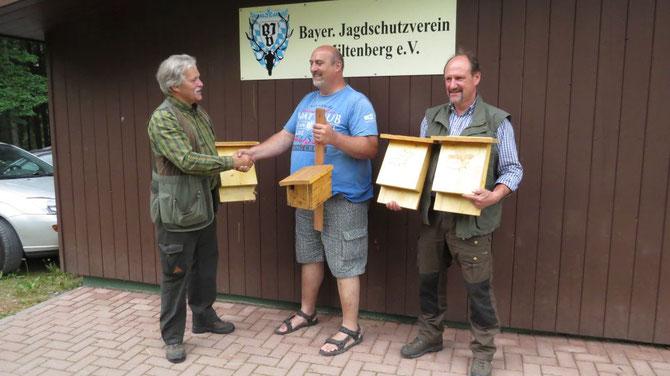 v. l. n. r. : Ralph Keller, Stephan Farrenkopf, Friedrich Schöffler