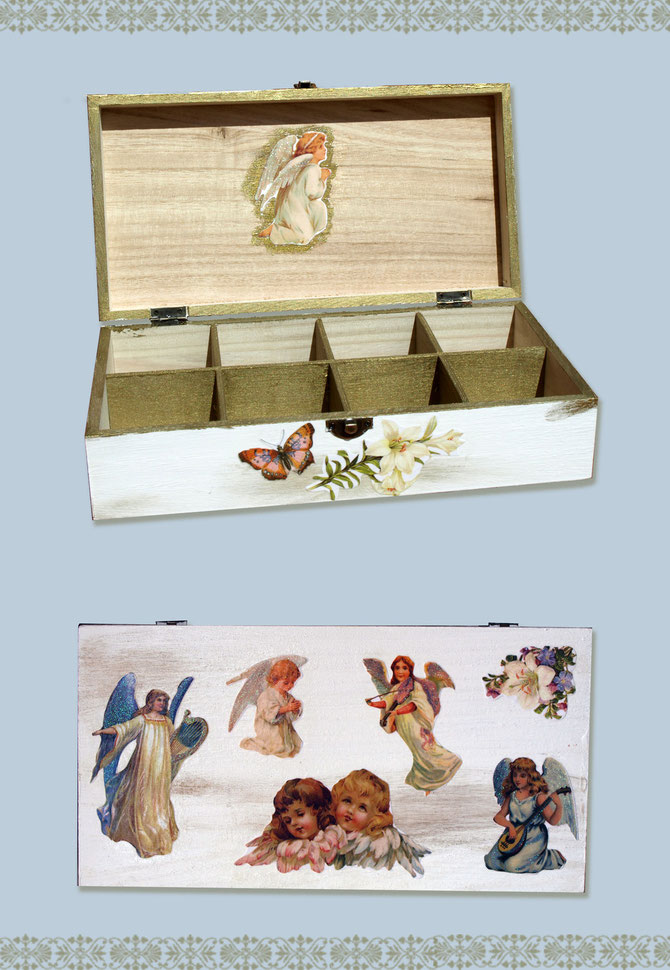 Découpage angels box by Vintage Birdcage