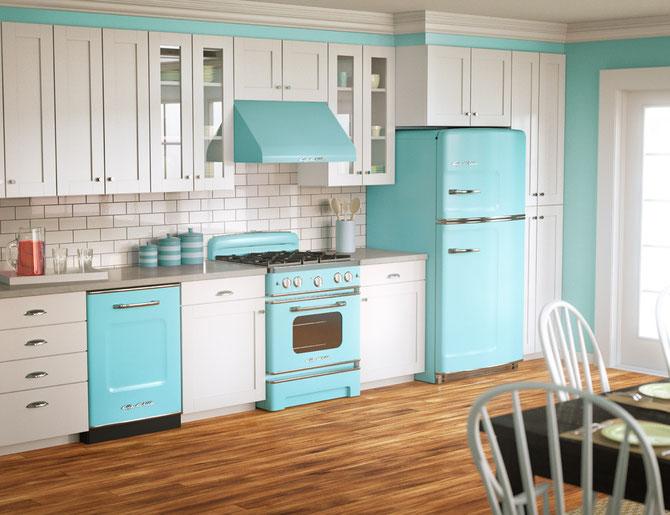 Big Chill turquoise Retro Kitchen