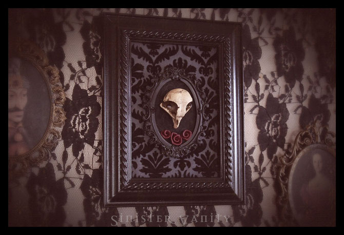 Sinister Vanity owl skull artwork