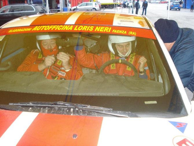 Preparazione del pilota e del navigatore al rally Event (Circuito di Imola) Gennaio 2013