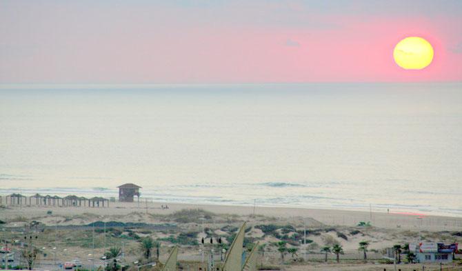 Coucher du soleil à Ashdod