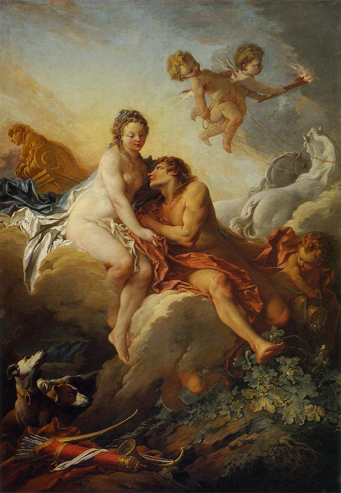 アウロラとケファロス (Aurore et Céphale) 1733年と推測 250×175cm | 油彩・画布 | ナンシー美術館