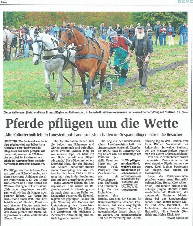 Nordsee Zeitung 3. September 2013