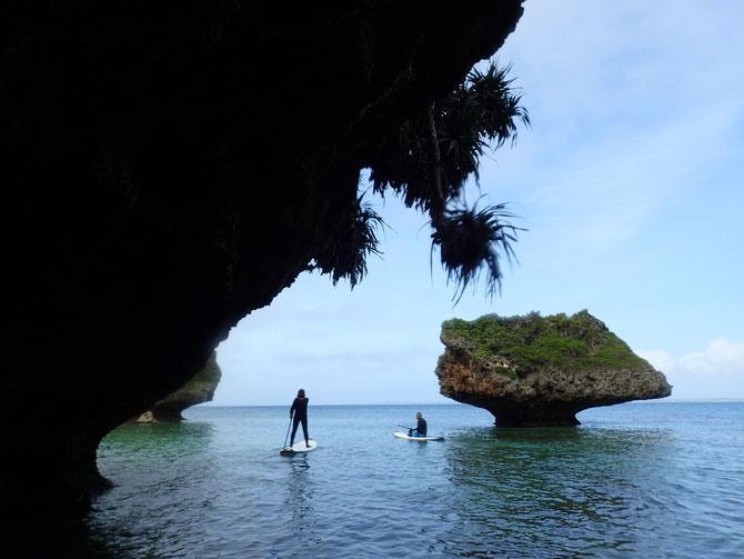 沖縄 宮古島 伊良部島 下地島 ピクニック 青の洞窟 三角点 洞窟 伊良部大橋 SUP スタンドアップパドル