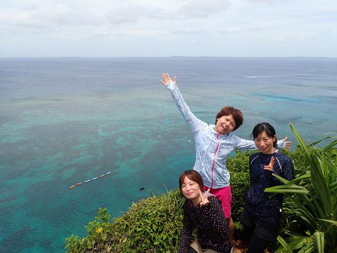 絶景ポイント 伊良部島 三角点 ウミガメ