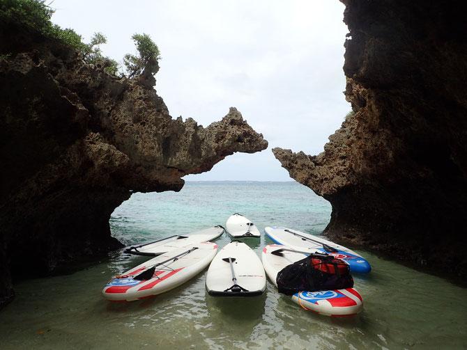 伊良部島 SUP 洞窟 洞窟巡り