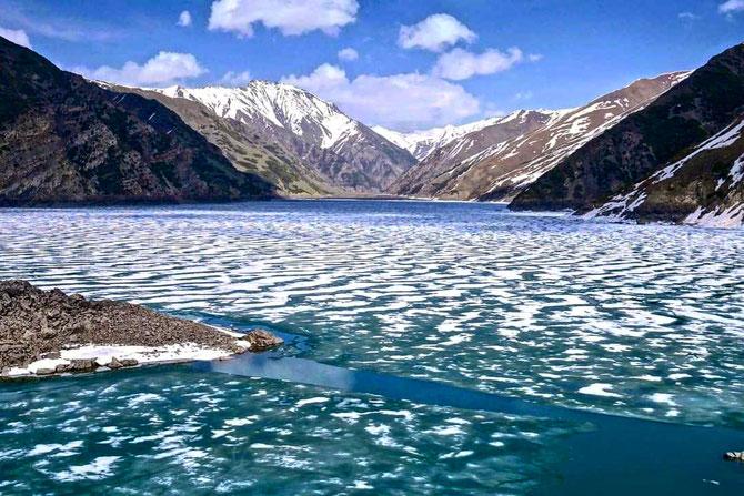 Lake,high in Southern Kyrgyzstan