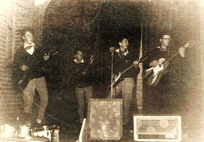 1960 v.l.n.r. Jo Kessels, Ben Berben, Lon Berben en Leo Brummans.
