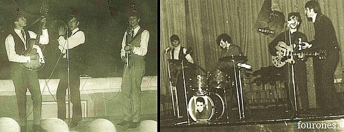 Foto rechts Van links naar rechts: Loe Wehrens, Jan Hanckman,Jan Bovens & Jos Wehrens    2 Maart 1967
