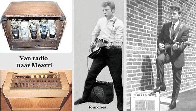 """Een tot gitaarversterker omgebouwde """"buizen"""" radio !"""