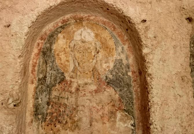 Fresken aus einer Höhlenkirche in der Lama d ´Antico bei Fasano