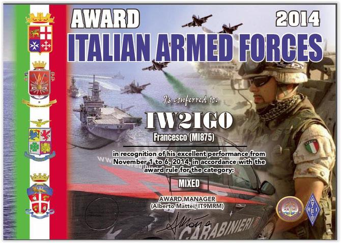 Award Forze Armate 2014