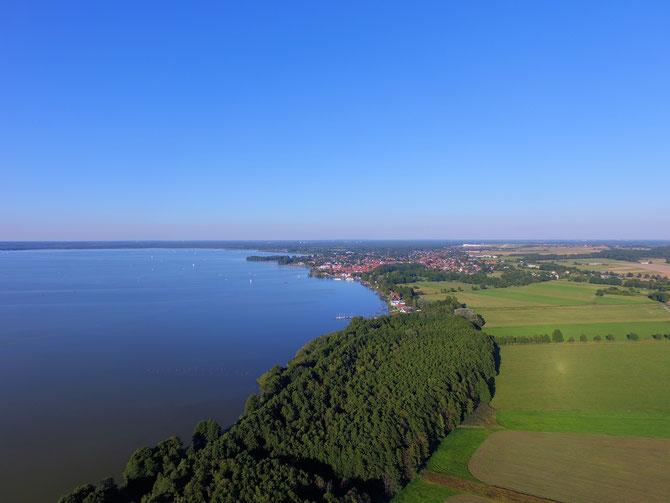 Vom Hagenburger Kanal am Meer nach Steinhude. Multicopteraufnahme von www.PhoeniXworX.de