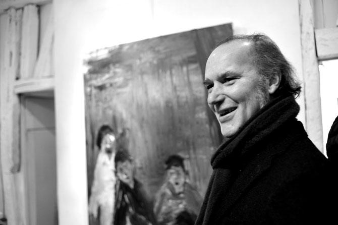 Ciro Rizzo lors de son vernissage à la galerie Vitoux le 26 janv 2017