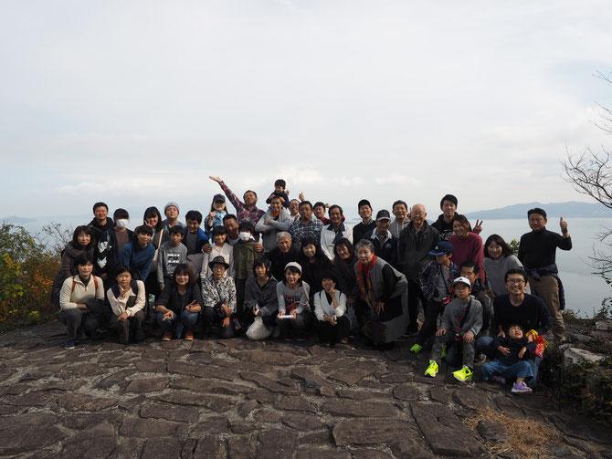 山頂にて記念写真