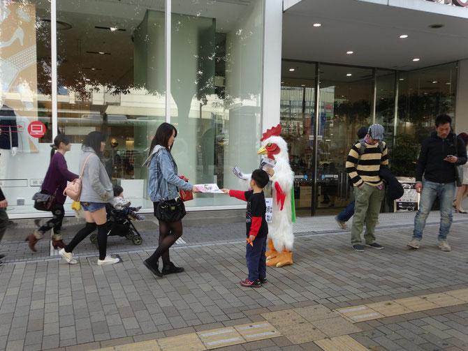 神戸 子供と一緒に啓発活動