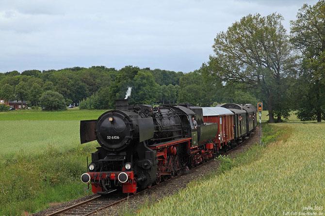 Nebenbahnatmosphäre auf der Teutoburger Waldeisenbahn bei Bad Laer - Foto: Jürgen Brockamp