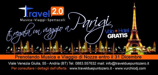 PRENOTANDO MUSICA & VIAGGIO DI NOZZE ENTRO IL 31/12