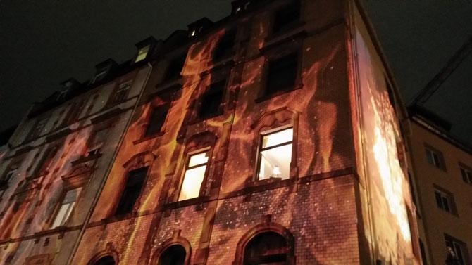 Die Projektionen an den Hauswänden waren wie immer der Hammer...