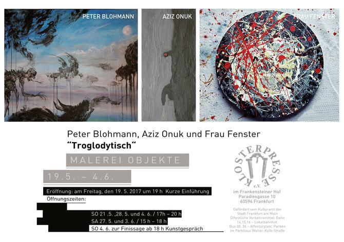 """Flyer zur Ausstellung """"Troglodytisch"""" in der Klosterpresse"""
