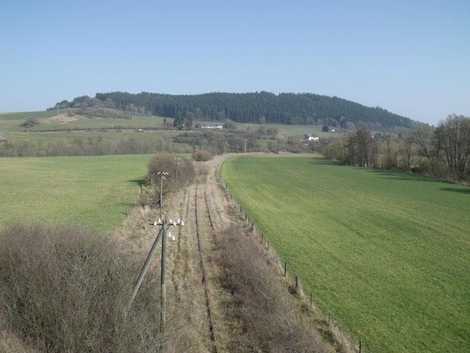 Blick auf die Streckenführung nahe Müllenborn
