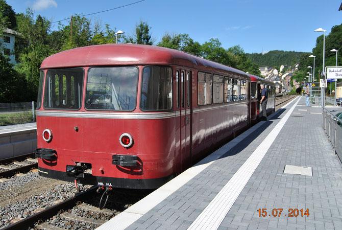 Zwischenhalt im kürzlich umgebauten Bahnhof Kyllburg