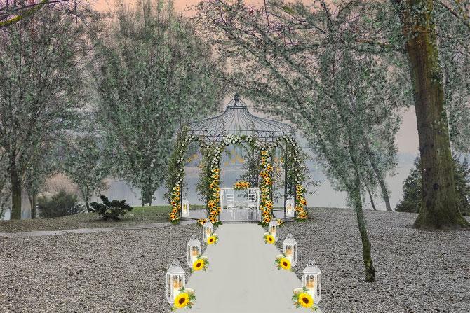 Matrimonio Girasoli E Rose Bianche : Nuovi progetti matrimoni fiori matrimonio addobbi