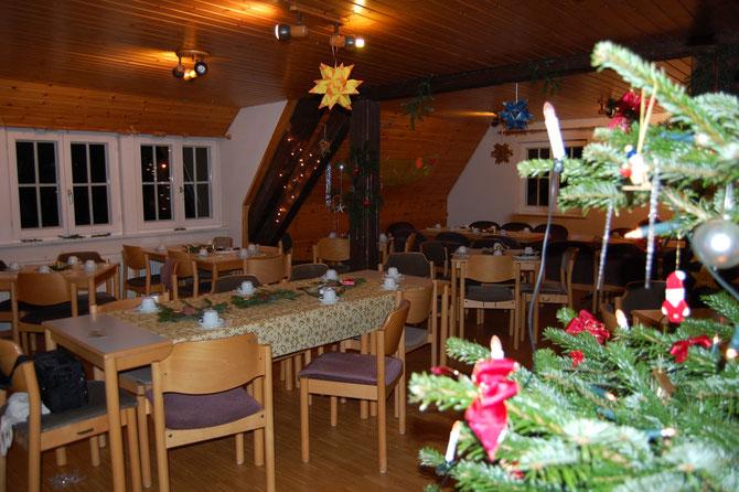 Es geht voran mit der Deko für heilig Abend 2012