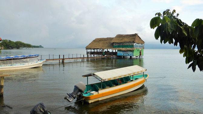 Zwischenstopp am lauschigen Lago Catemaco.