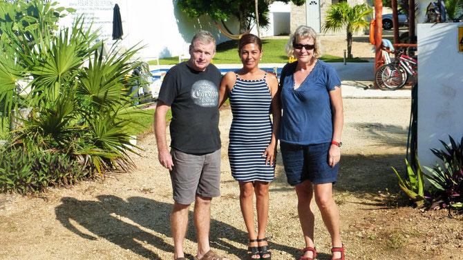 Es heißt Abschied nehmen von Cristina und Paul, auf deren RVCamping in Cancun unser Dicker 4 Monate sicher und unversehrt gestanden hat. Muchas gracias por todo Cristina und Paul.