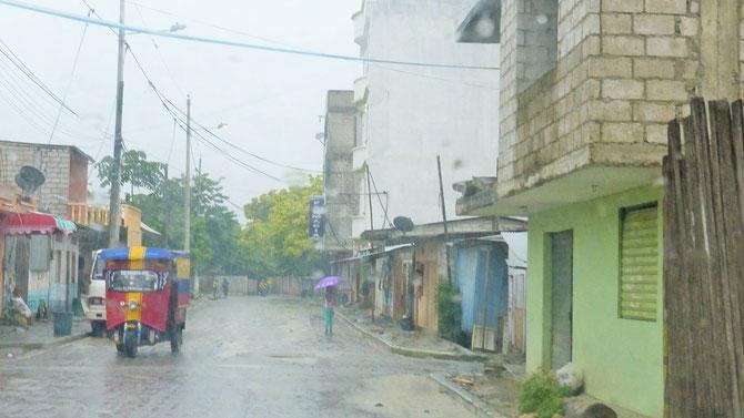 Land unter in Las Penas.