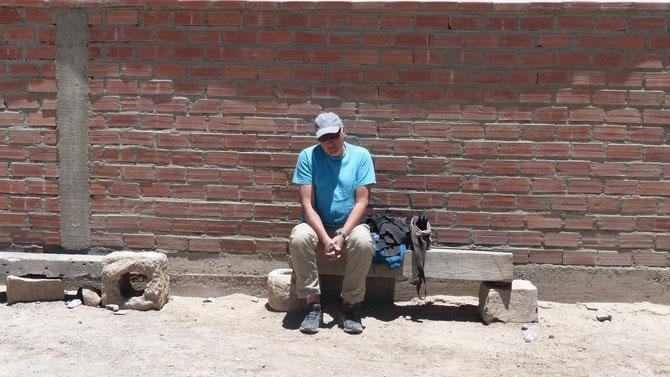Da sitzt der Sünder in der Lavadora auf der Strafbank. Man sind wir froh, denn es ist nüscht passiert. Übrigens liefen die Bergungsarbeiten in den letzten 1,5 h bei Dunkelheit im Licht mehrerer Taschenlampen.