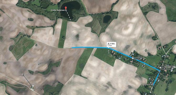 Radtour 1 - Trampe zum Grossen Bebersee