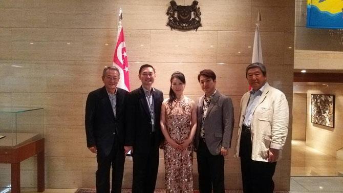 Tang Weng chauシンガポール首席公使と。atシンガポール大使館