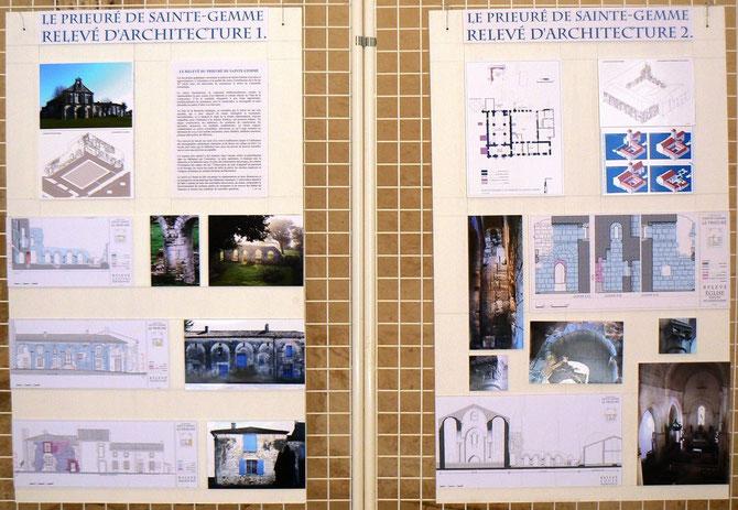 Les Journée Européennes du Patrimoine de 2009 furent illustrées avec les panneaux montrant « le relevé d'architecture à Sainte-Gemme »