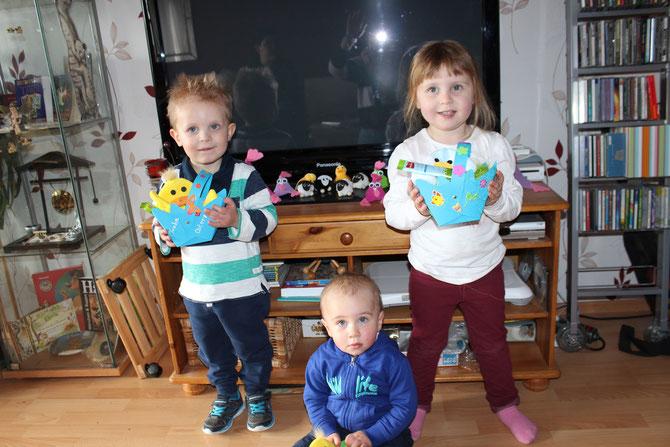 Kinder mit ihren Osternestern :-)