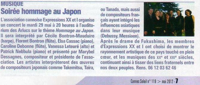 Cannes Soleil - Mai 2012