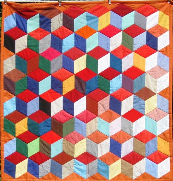 Patchwork Decke von Evelyn Binder