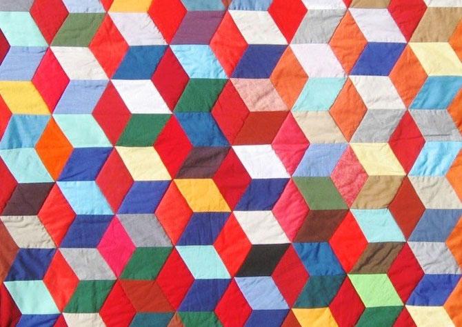 Patchwork Decke von Evelyn Binder Krems.