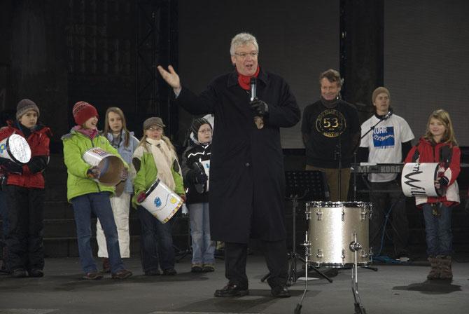 Oliver Scheytt grüßt die Gäste der Kokereibühne  (10.1.2010)